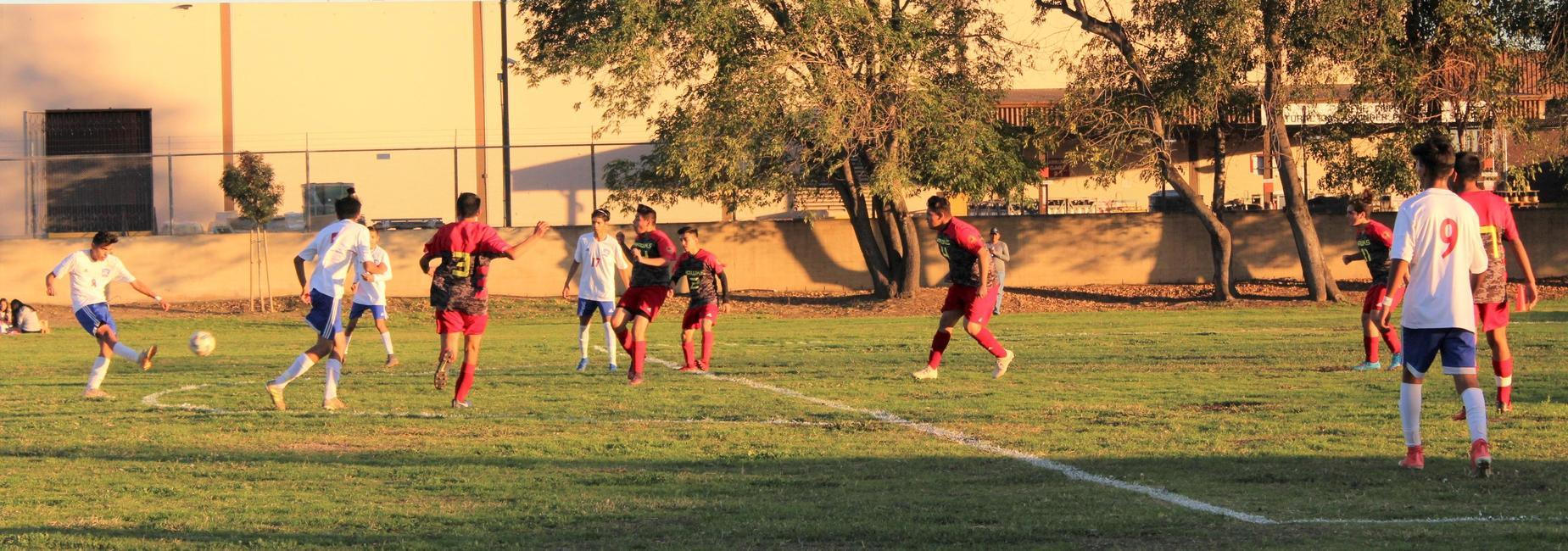 Boys Soccer Game