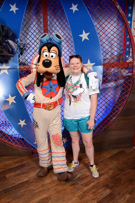 Meeting the Goof at Walt Disney World!