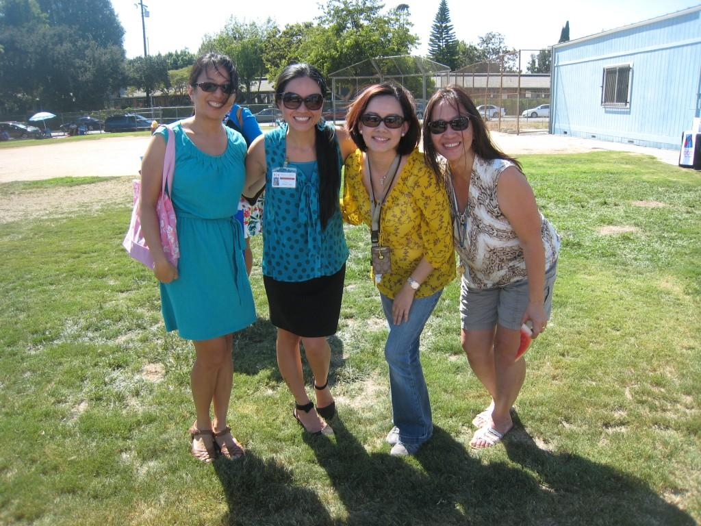 Marguerita staff and parents during the PTA/ASB Community Building Picnic