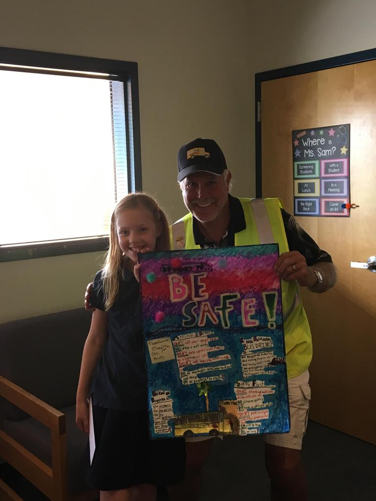 Madeleine - National School Bus Safety Week - Art Contest Winner