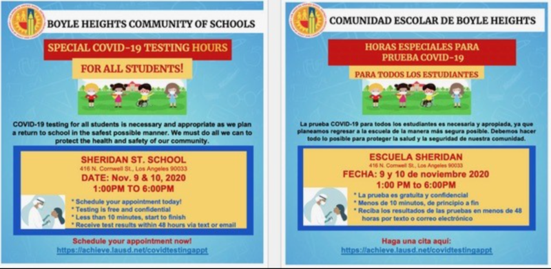 FREE COVID-19 Testing for LAUSD Students and Parents Featured Photo