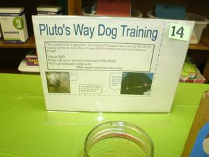 2 doggie day care days at Pluto's Way for United Way drawing.
