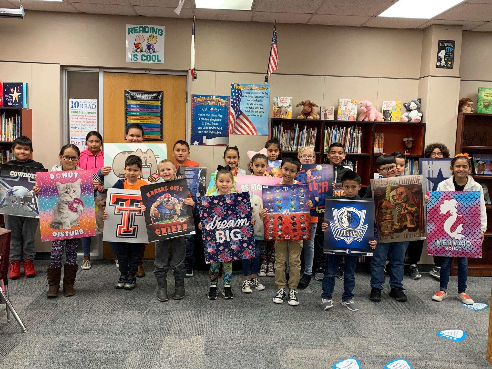 Fall Book Fair poster drawing winners