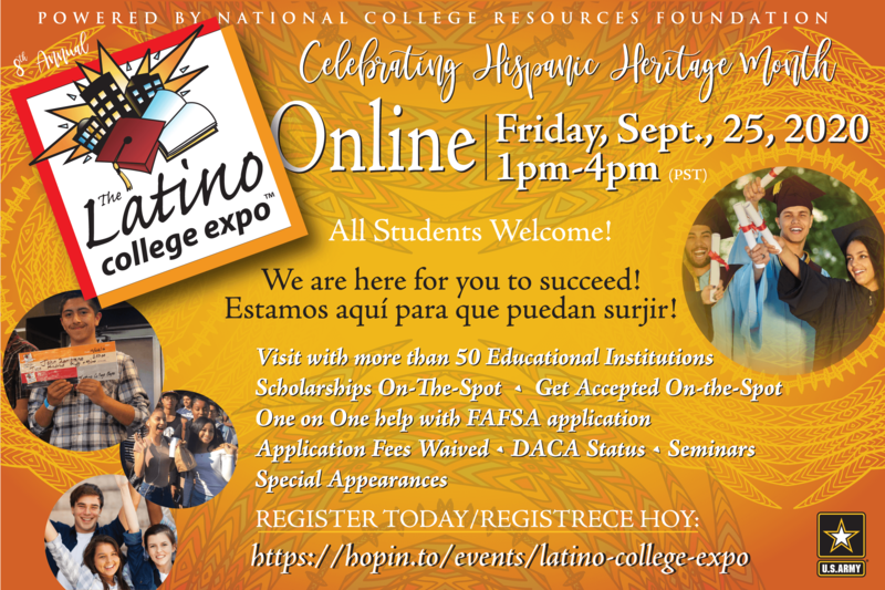 Flyer for Latino College Expo