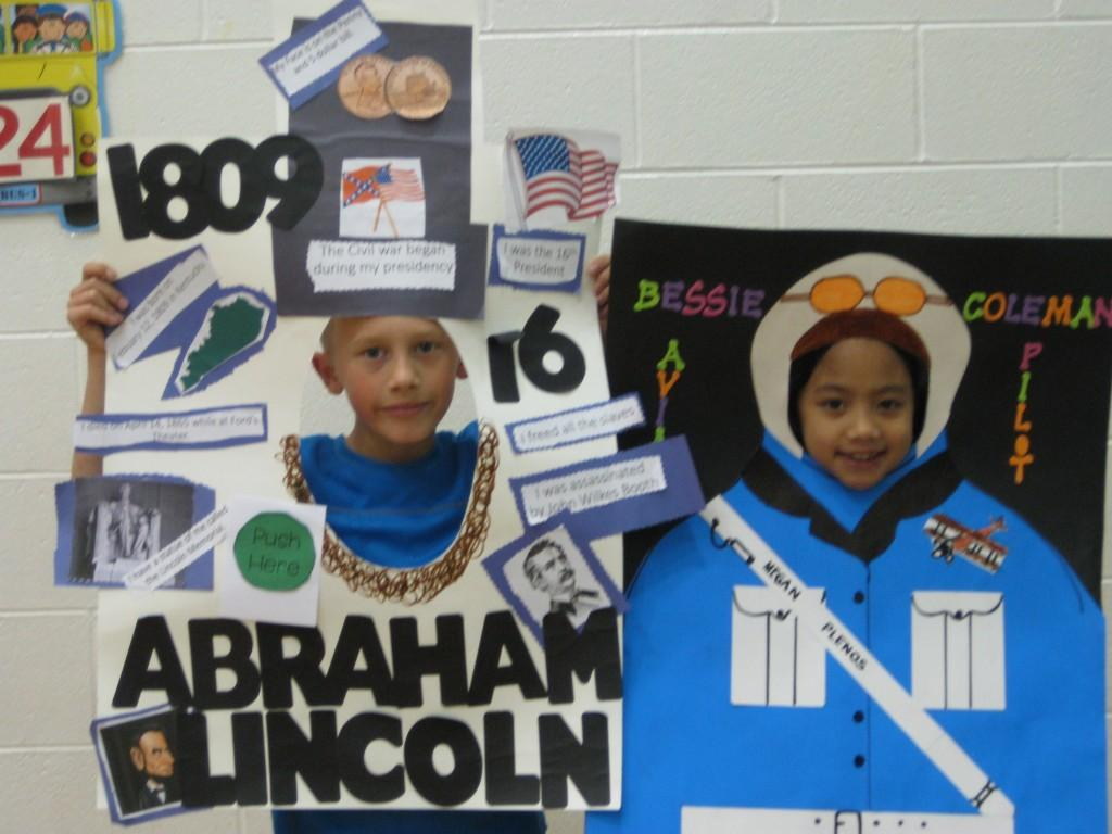 Wax Coleman-Abraham Lincoln and Bessie Coleman