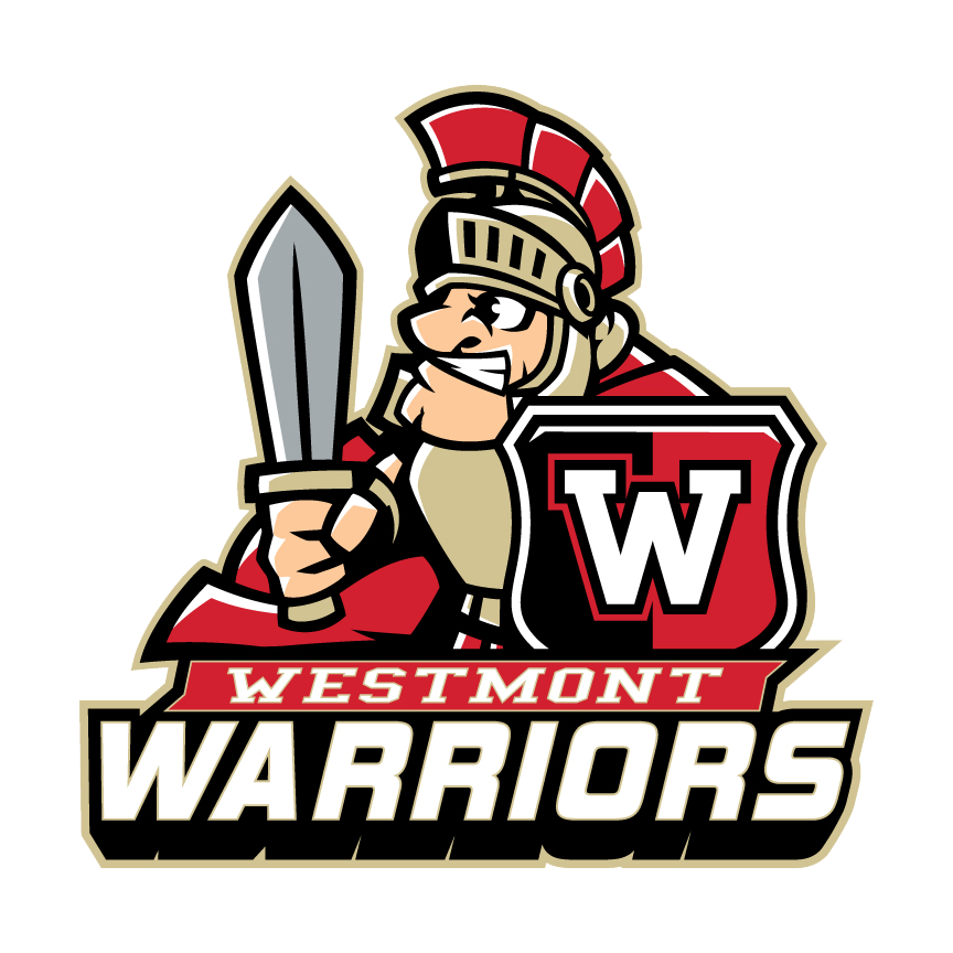 Westmont logo with Wally the Warrior and the name of the school.