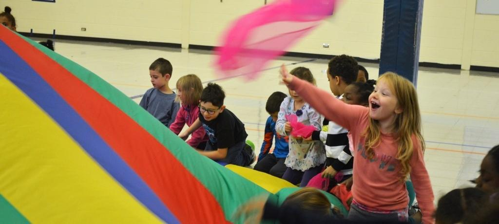 Parachute play in physical education