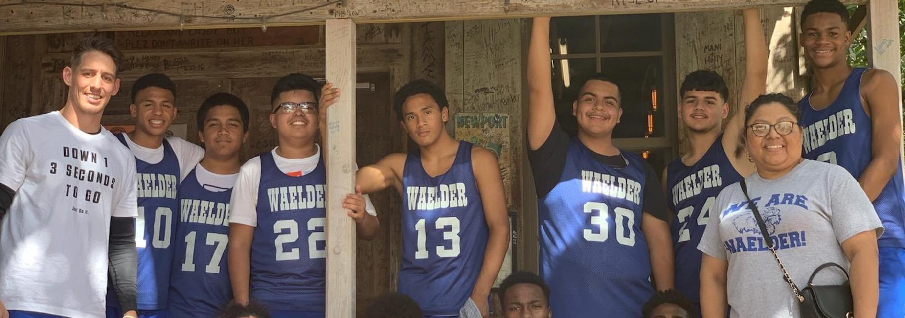Boys Basketball in Luckenback, 2019