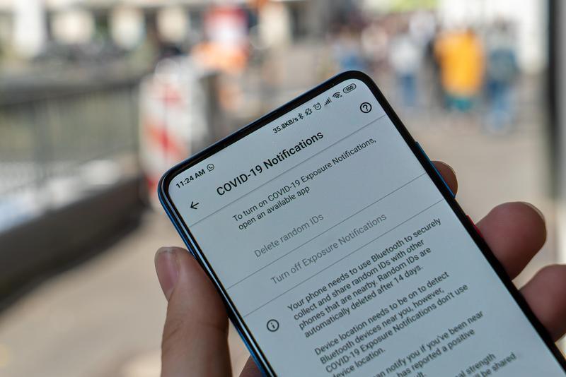 COVID Notification Screen