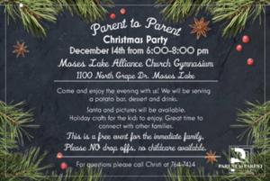 Parent to Parent Christmas Party Invite