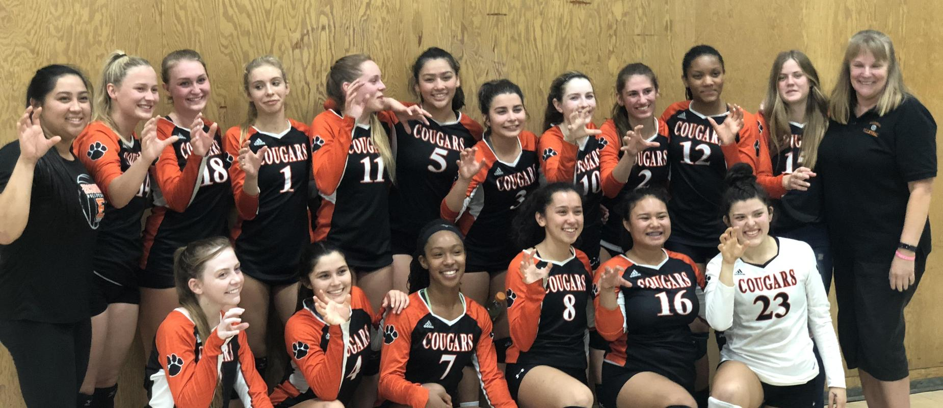 Girls Volleyball Team in the CIS semi-finals at Patrick Henry High School