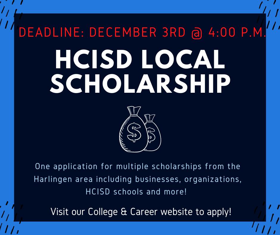 HCISD local scholarship flyer