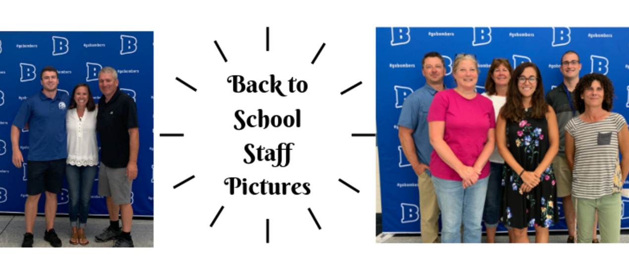 Pictures of staff posing for pictures