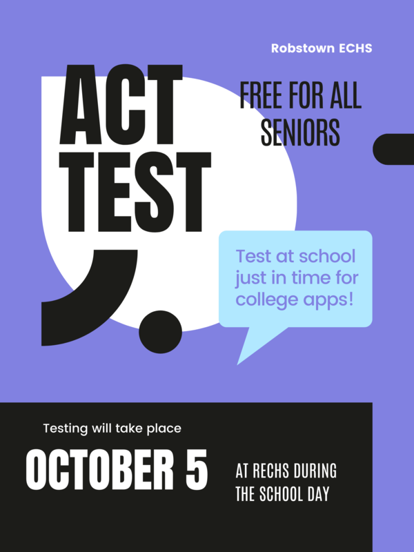 Oct 5th- ACT Test for all SENIORS Featured Photo