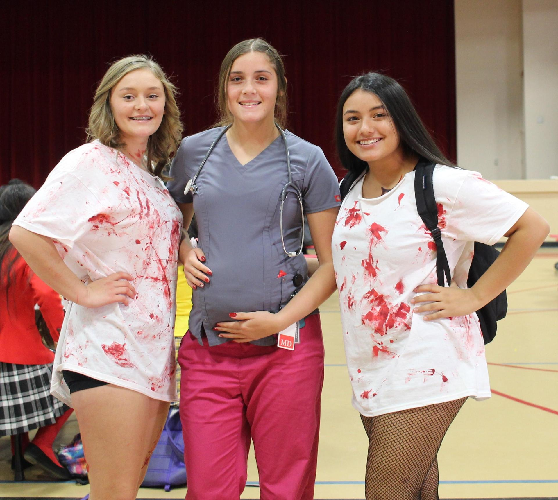 Mekenah Clairday as a zombie, Halle alvarado a doctor, Erykah negron as a zombie