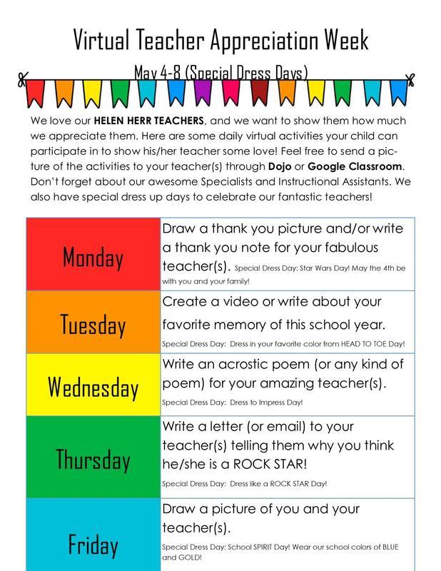 Teacher Appreciation Week May 4-8 Thumbnail Image