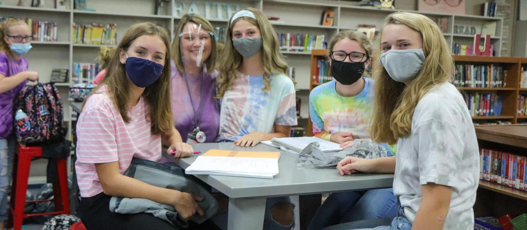 LMS students dress up for tie dye day