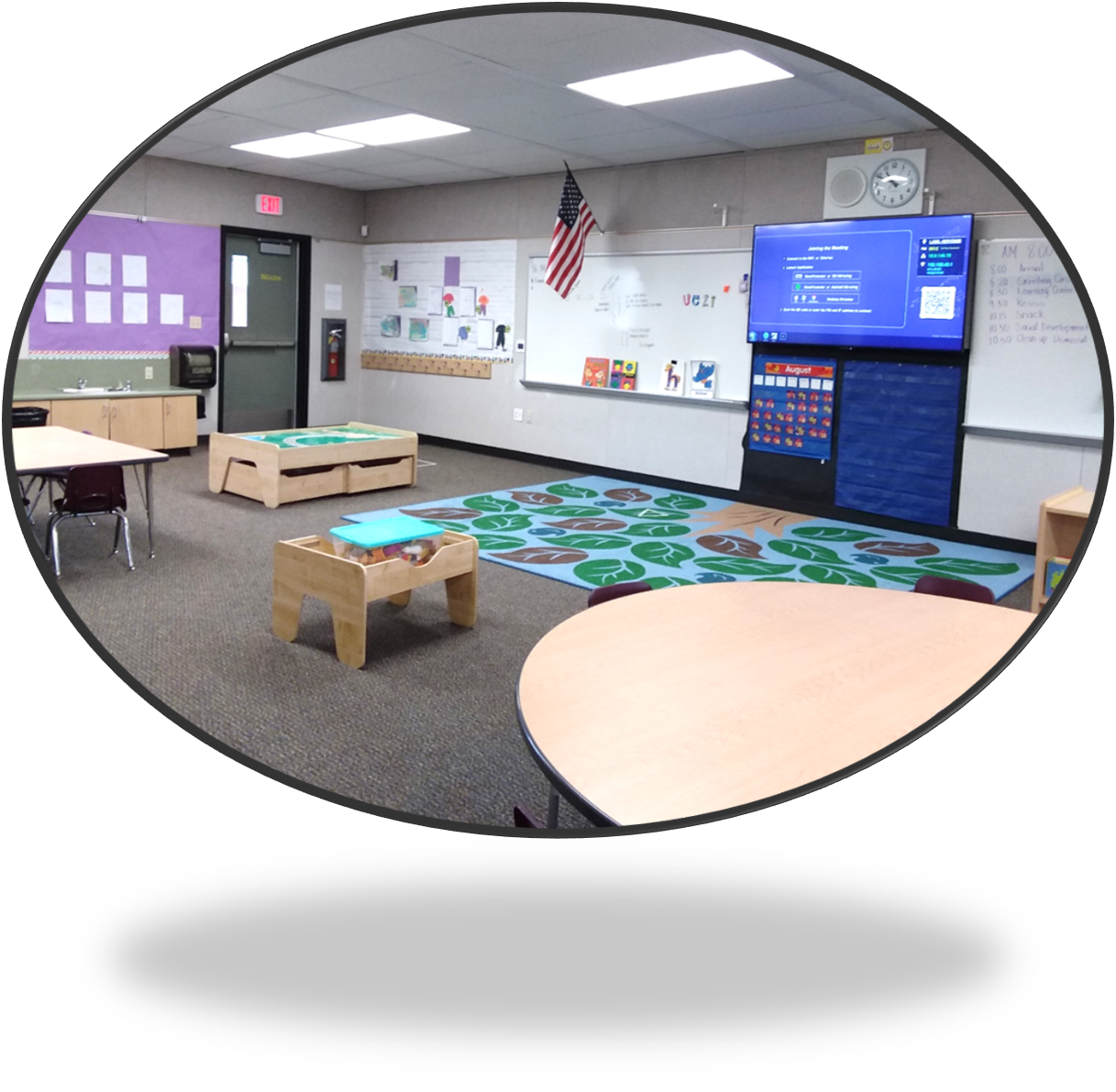Picture of front of classroom