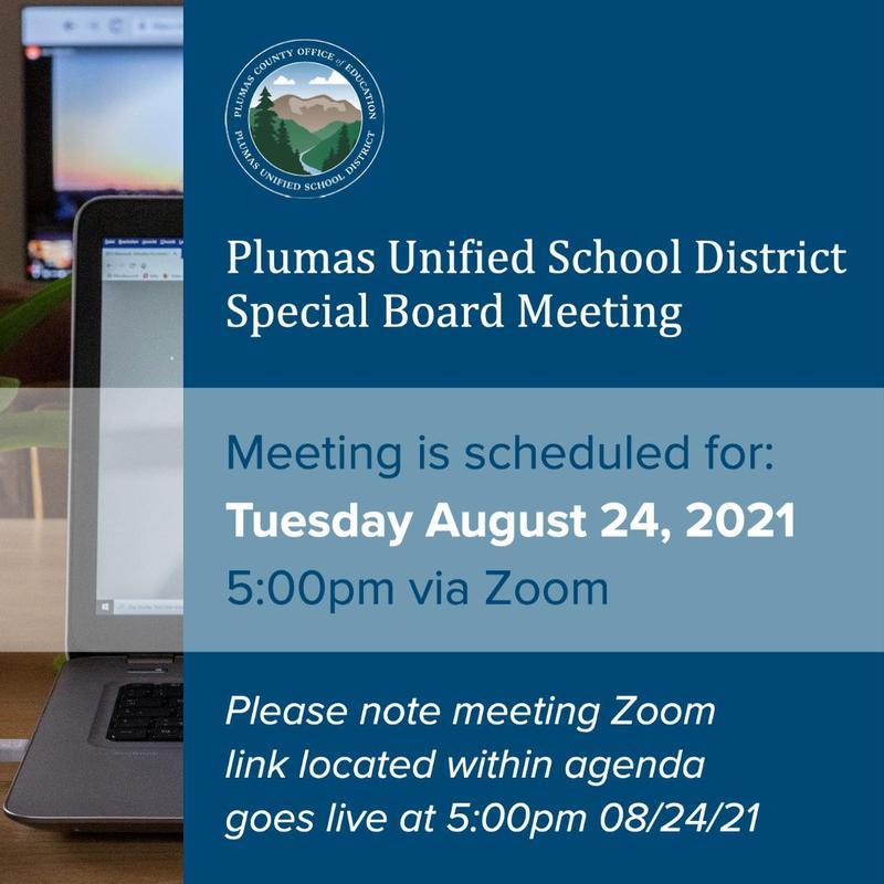 PUSD special board meeting 8-24-21