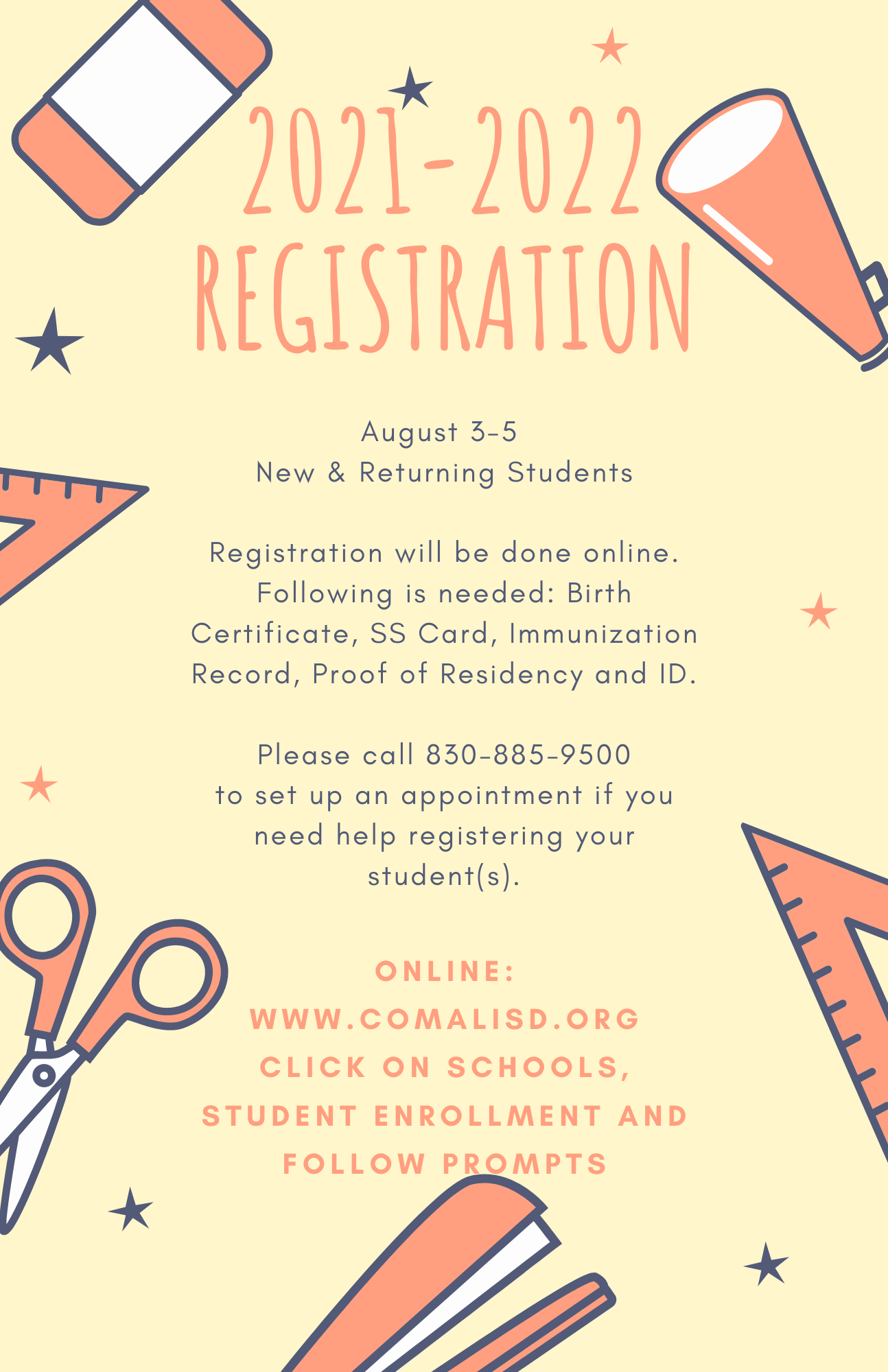 New & Returning Students to Comal ISD