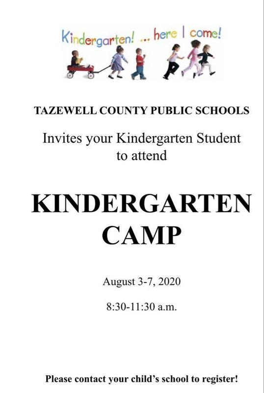 Flyer for kindergarten camp