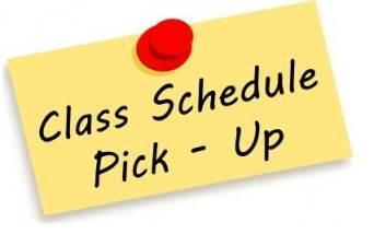 class scheudle-pick up