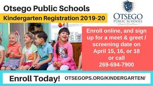 graphic with kindergarten registration information which is all on the linked page.