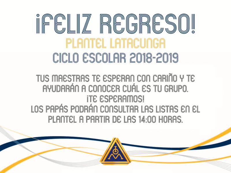 FELIZ REGRESO A CLASES LES DESEA PLANTEL LATACUNGA! Thumbnail Image