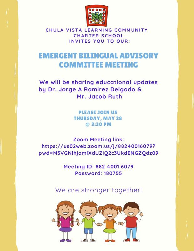 CVLCC Monthly Emergent Bilingual Advisory Council Meeting - May 28 Featured Photo