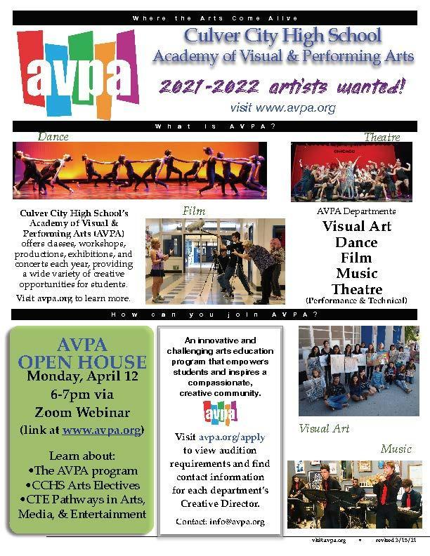 Opportunity for 8th Graders to Learn about AVPA at CCHS Thumbnail Image