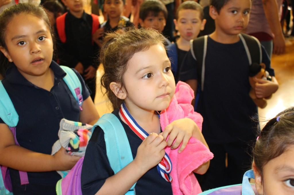 Kindergartener with medal
