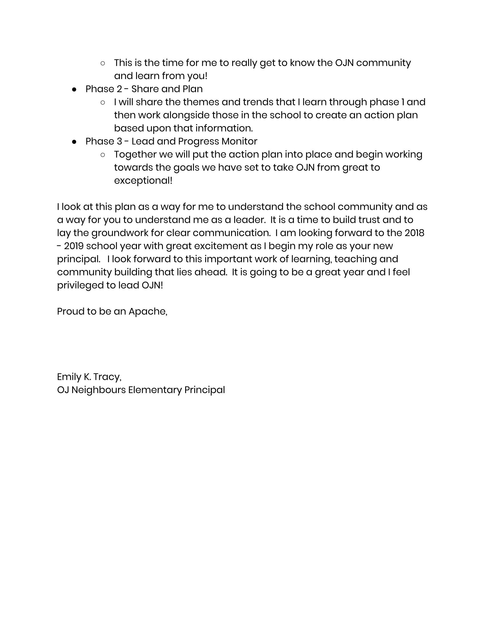 Principal's Message page 2