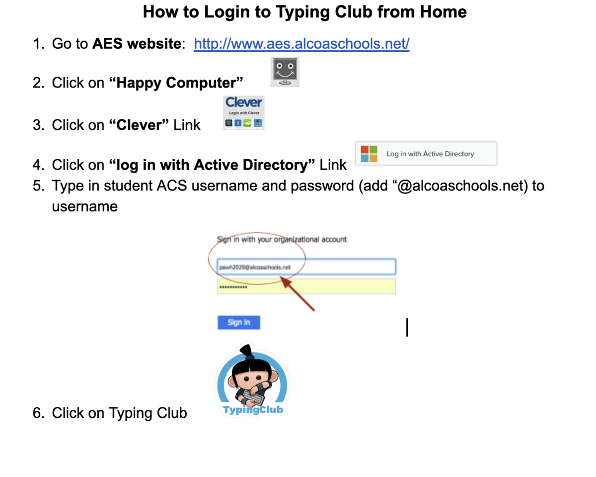 How to login to Typing Club