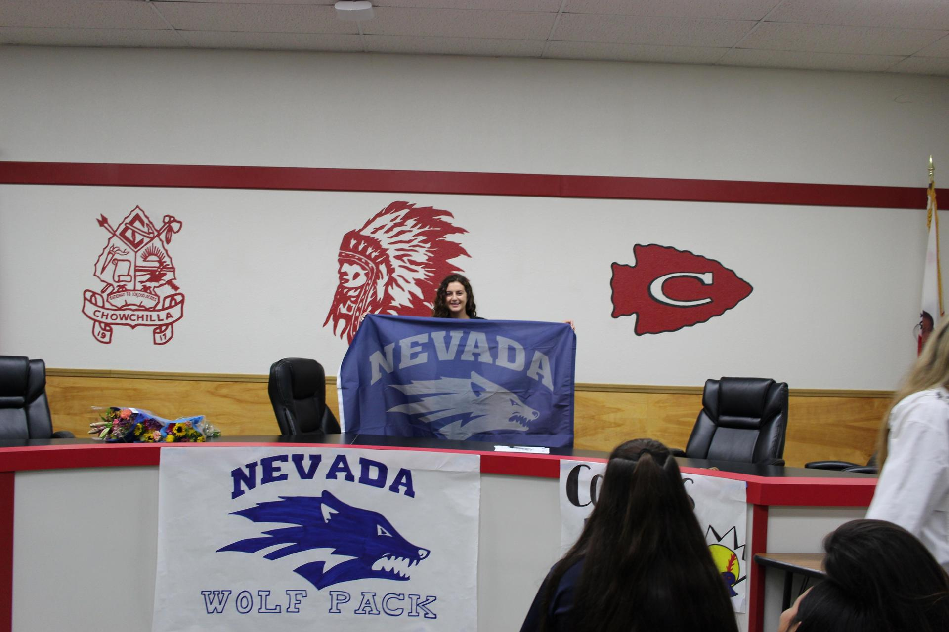 Jana Pope signing with University Nevada Reno.