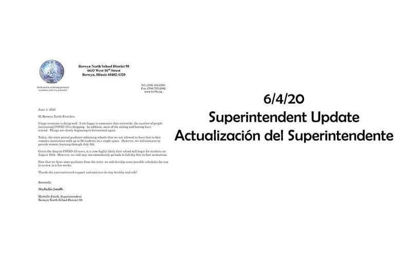 Superintendent Update / Actualización del Superintendente 06-04-20 Thumbnail Image