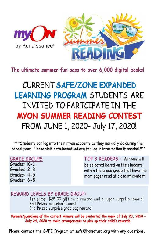 Summer Myon Reading Contest