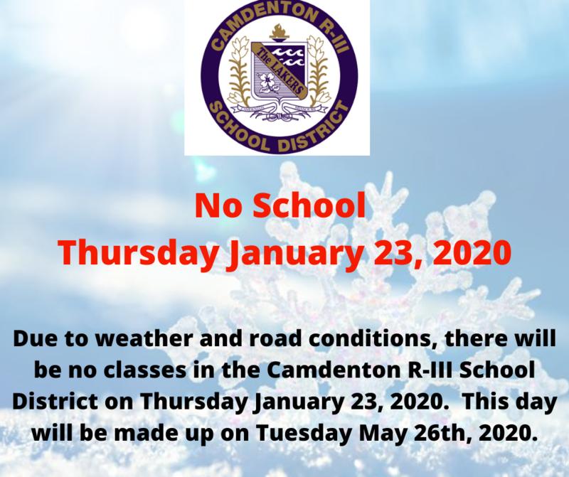 No School - Thursday January 23 Featured Photo