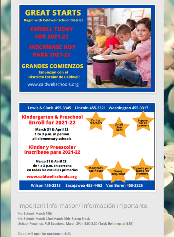 March Family Newsletter