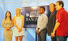 May 3rd, 2019 Adrian Eaglin, a Beau Chene High School student, was named Best Athlete of the Week for soccer by KLFY and awarded a $1000.00 Scholarship from Coca Cola. Congratulations, Adrian!