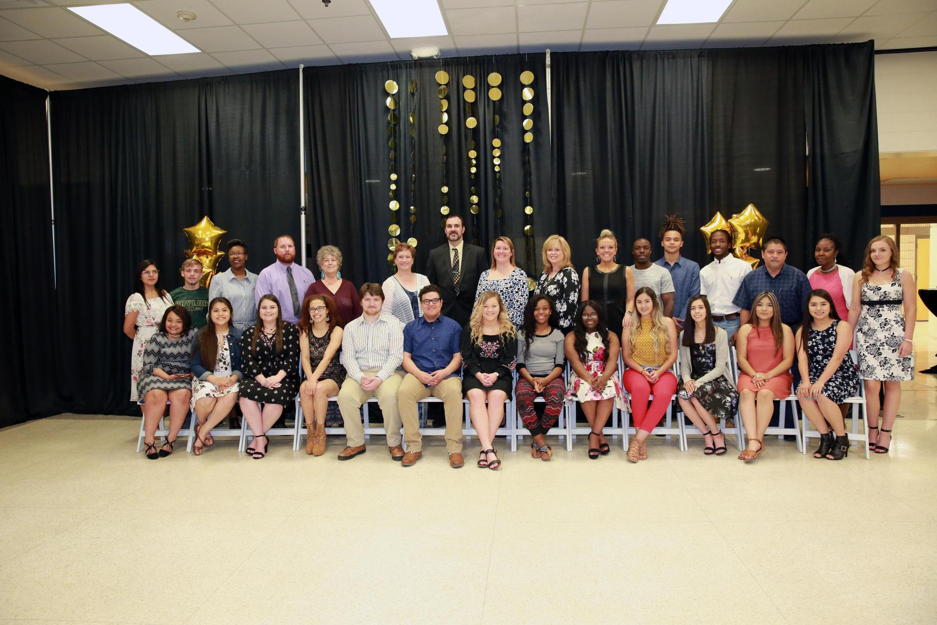 2018 Scholars Banquet - top 20 students