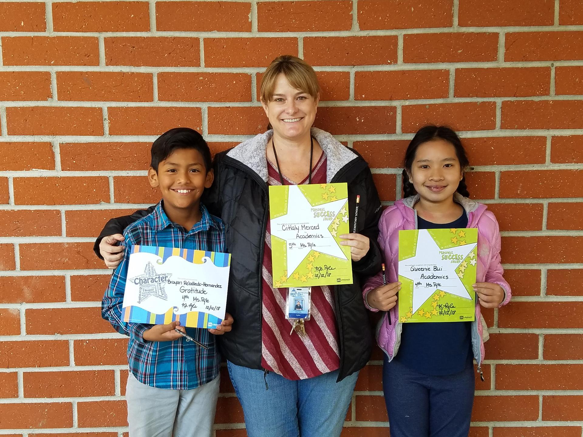 Ms. Pyle's 4th & 5th Grade Winners