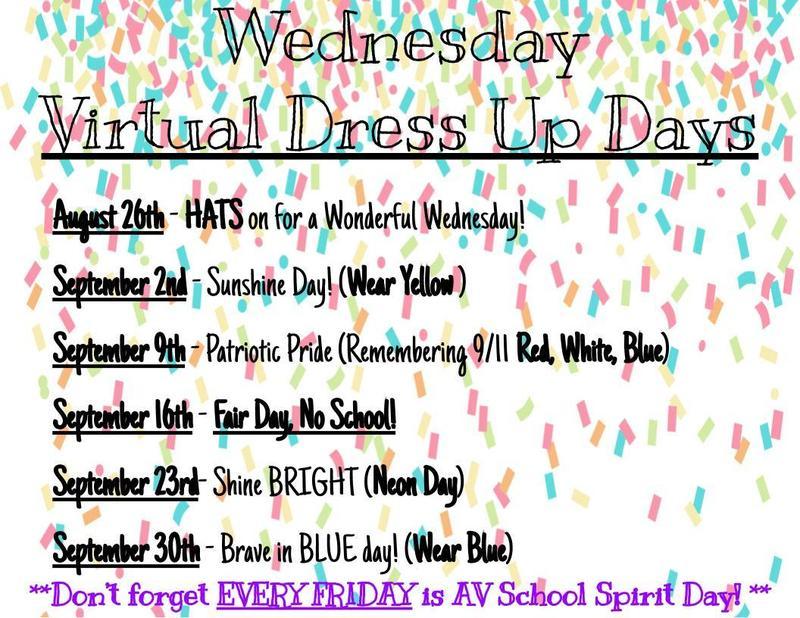 Virtual Dress Up Days