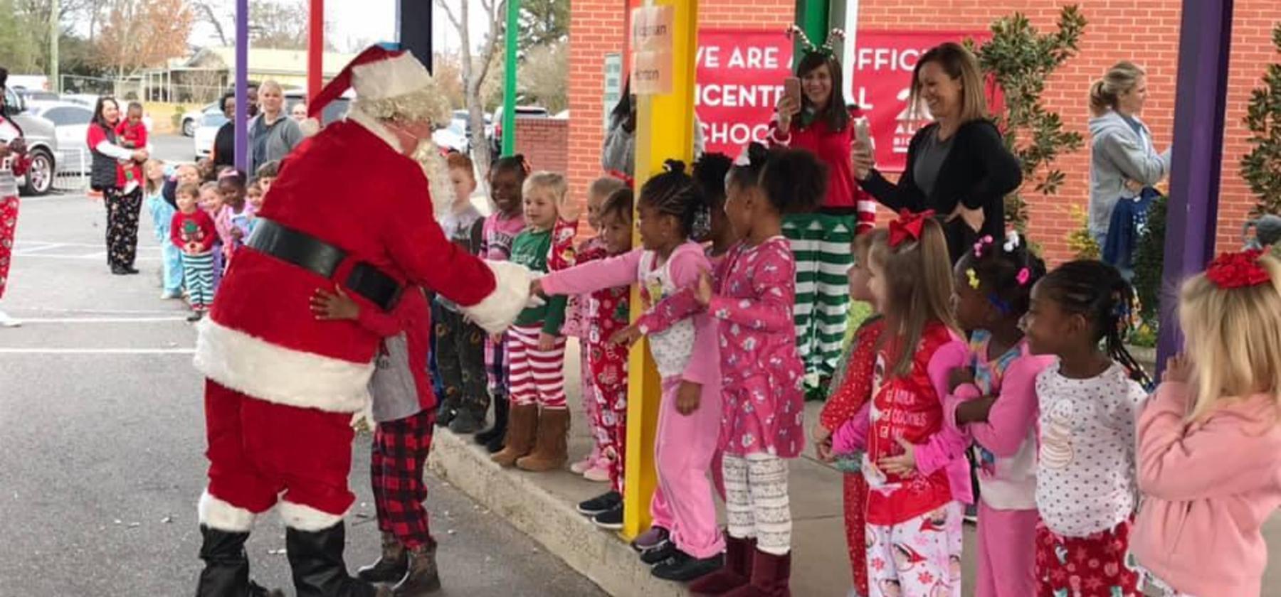 Santa visits Pre -K