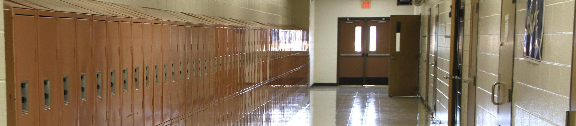 CMS hallway with lockers