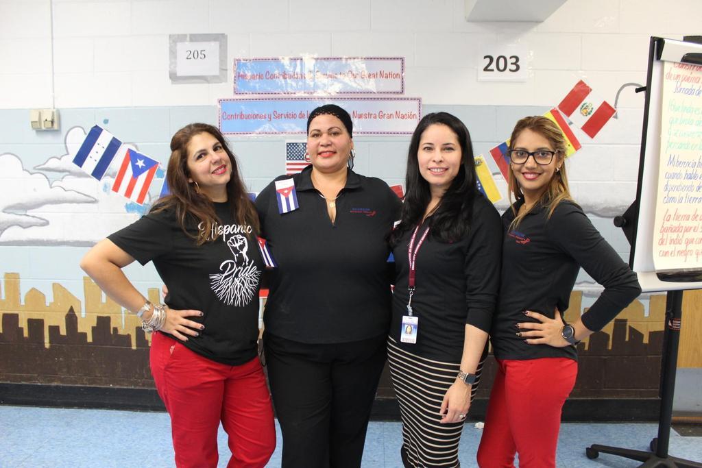 Mrs. Camacho, aide, Mrs. Fernandez, and another teacher