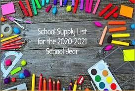 School Supply List 2020-21 Featured Photo