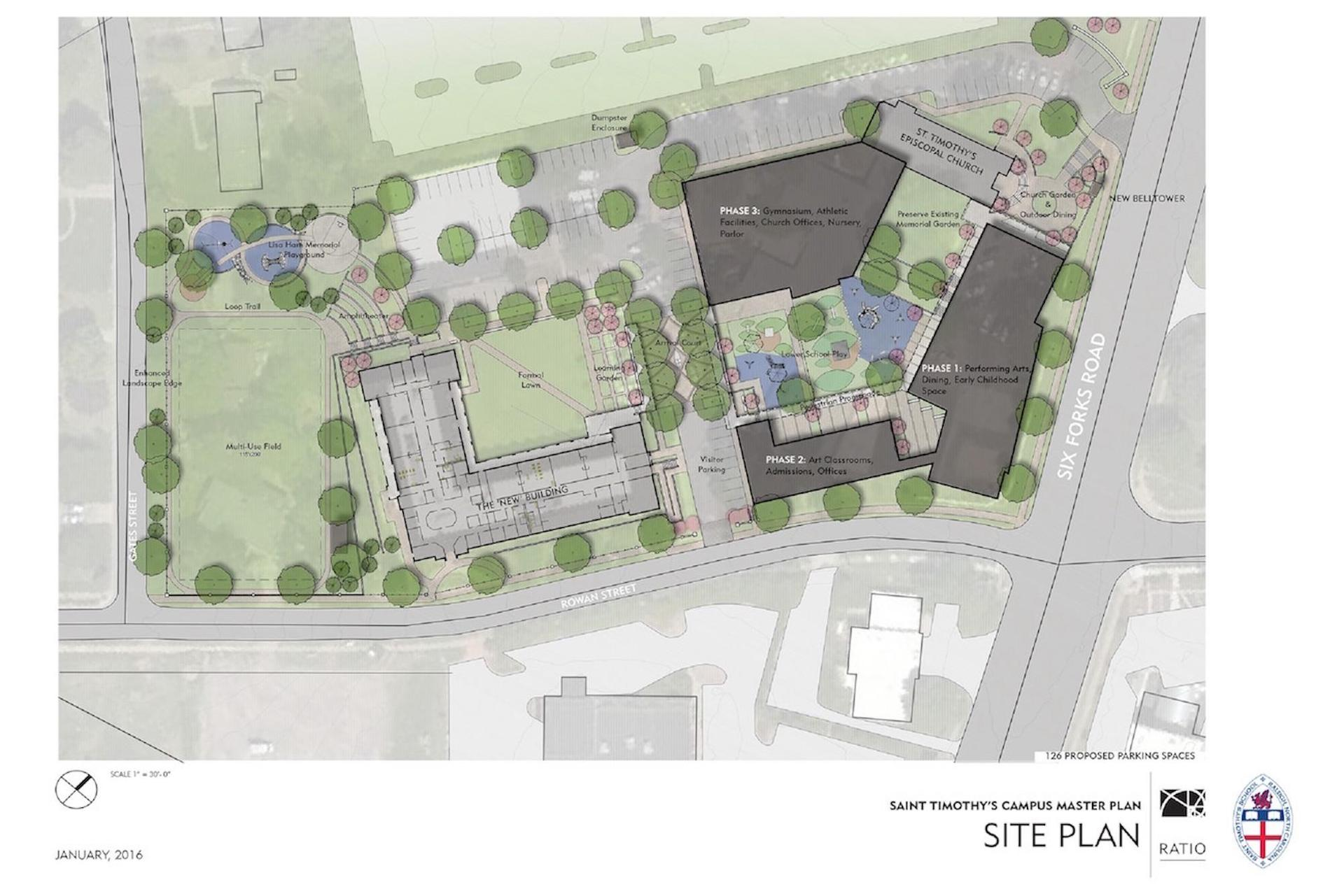 Final Site Plan of Phases 1, 2 and 3