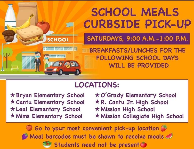 Mission CISD announces school meals curbside pick up Featured Photo