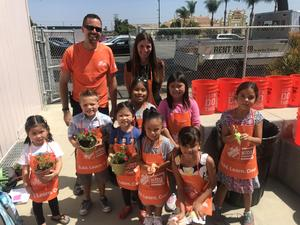 Home Depot builds a garden