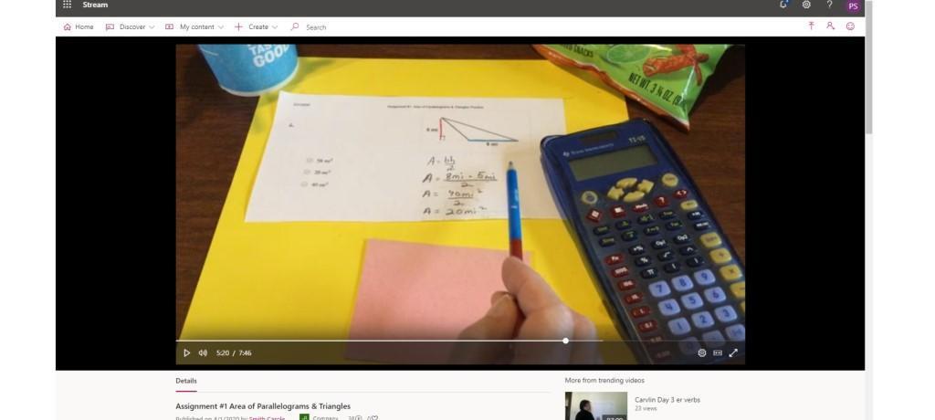 online math lesson